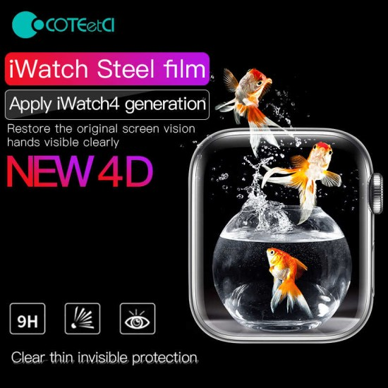 Screen Protector Glass Armor 4D for Apple Watch Serires 5 & 4 size 44mm by Coteetci