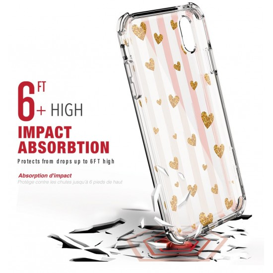 Cover iPhone XS Max Jewel Mirage Series Gold Hearts by ballistic
