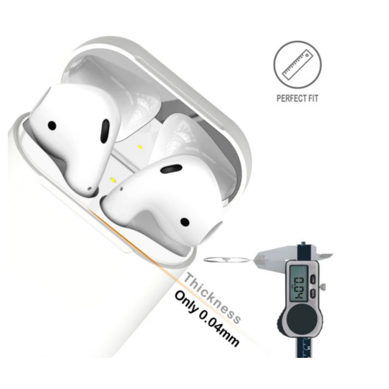 Airpods Dust Guard  Silver 18 k by beyondcell