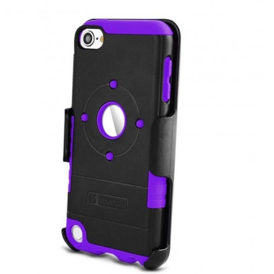 Duo Shield Kombo For Apple Ipod Touch 5 & 6 th Gen black & purole by beyondcell