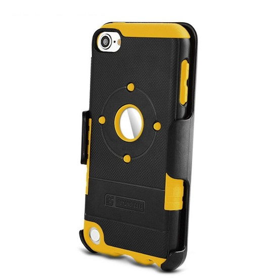 Duo Shield Kombo For Apple Ipod Touch 5 & 6 th Gen black & yellow by beyondcell