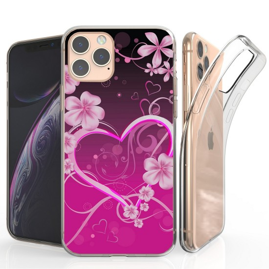 cover Flex Gel Suitable For Apple iPhone 11 Pro Max 6.5 Pink Rosy Heart by beyondcell
