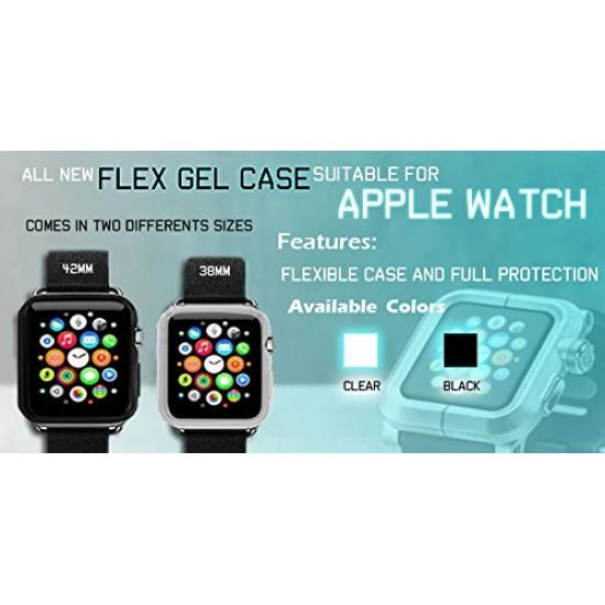 Flex Gel For Apple Watch 38 or 40 mm Ultra Slim Flexible Gel TPU black