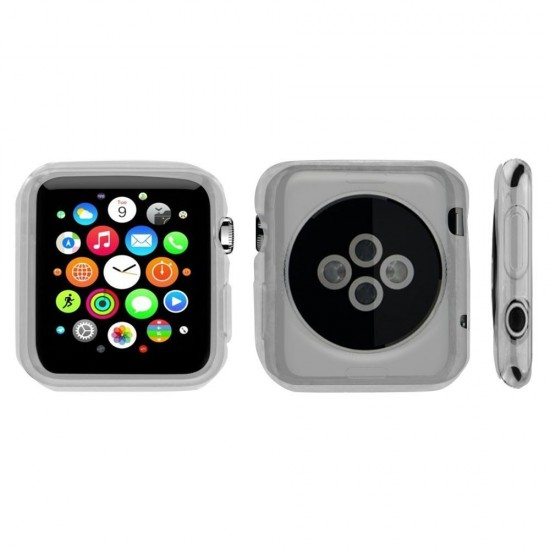 Flex Gel For Apple Watch (Series 1,2,3,4) 38mm or 40mm Ultra Slim Flexible Gel TPU Transparent Clear