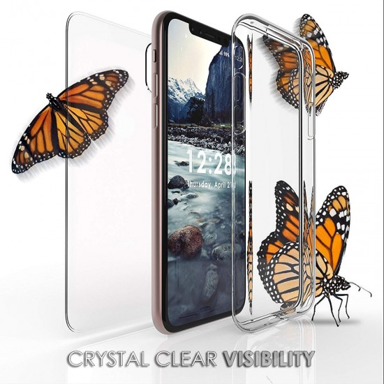 cover for iphone xs Max Trishield Gear Trimax Ultra Slim Transparent Clear Hybrid Shock Absorbing Scratch Resistance With Built In Screen Protector Flexible Gelby by beyondcell