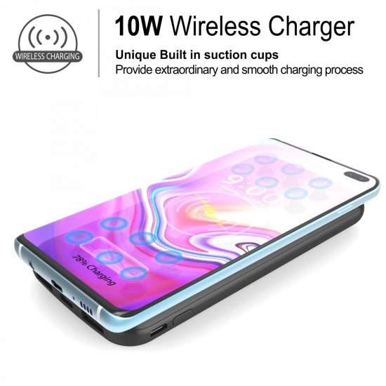 Power Bank 12000 mAh External Battery & QI Wireless Charging & pd 18 w & usb A qualcomm 3.0 Black by beyondcell