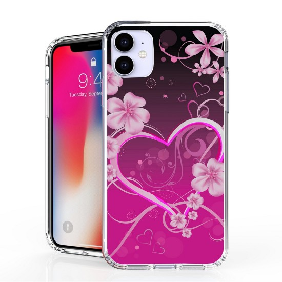 cover Flex Gel Suitable For Apple iPhone 11 Pink Rosy Heart by beyondcell