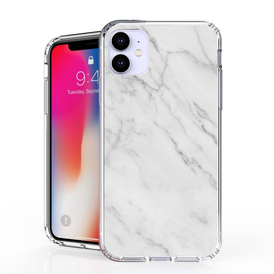 cover AquaFlex Suitable For Apple iPhone 11 white Marble Print by beyondcell