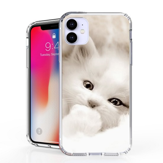 cover AquaFlex Suitable For Apple iPhone 11 White Kitten by beyondcell