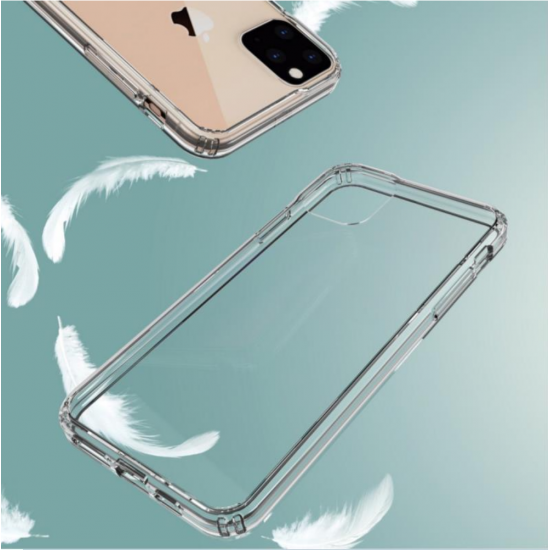 cover for iPhone 11 pro AquaFlex Shock Bumper Crystal Transparent Clear by beyondcell