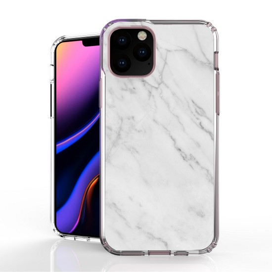 cover AquaFlex Suitable For Apple iPhone 11 Pro 5.8 white Marble Print by beyondcell