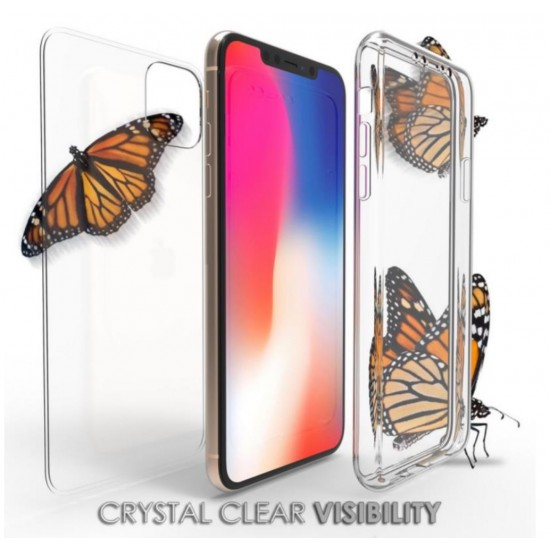 cover for iphone 11 pro Max Trishield Gear Trimax Ultra Slim Transparent Clear Hybrid Shock  by beyondcell