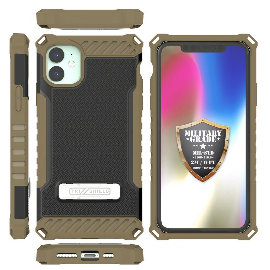 cover Tri Shield Suitable For Apple iPhone 11 Black FDE  Flat Dark Earth TPU by beyondcell