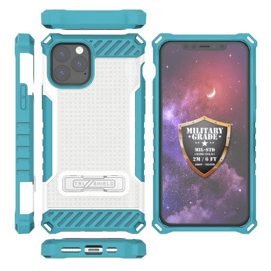 Tri Shield Suitable For Apple iPhone 11 Pro Max 6.5  White Light Blue TPU by beyondcell
