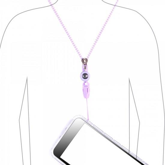 Universal Neck Strap 3pcs Pack (White/Black/Purple) by beyondcell