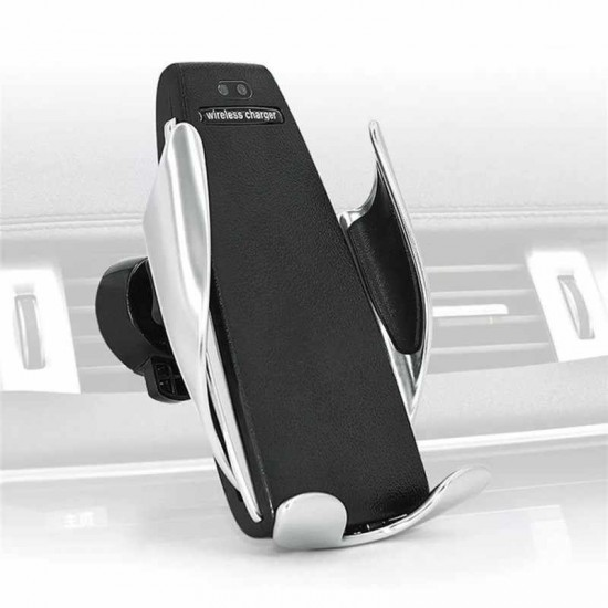 Auto Clamping Car Phone Holder Wireless Fast Charger Mobile Mount by beyondcell