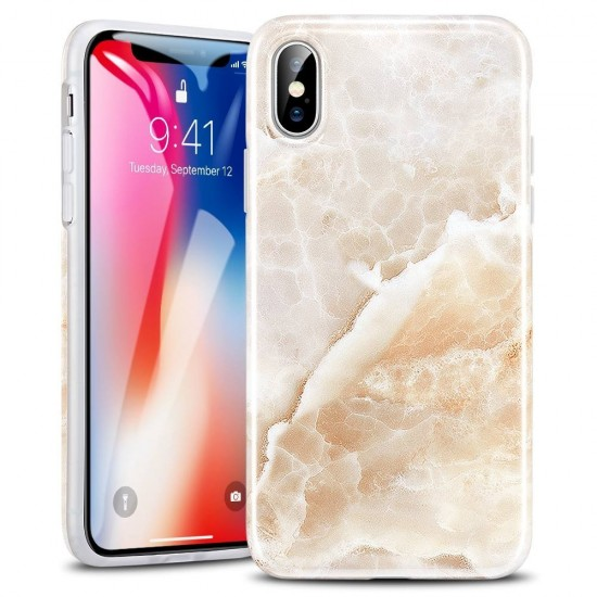 half off 15fab 4d87f cover iPhone X Marble Case - Light Coffee by esrgear