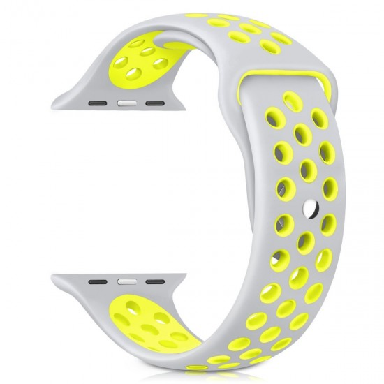 APPLE Band 42mm Nike gray withe yelow