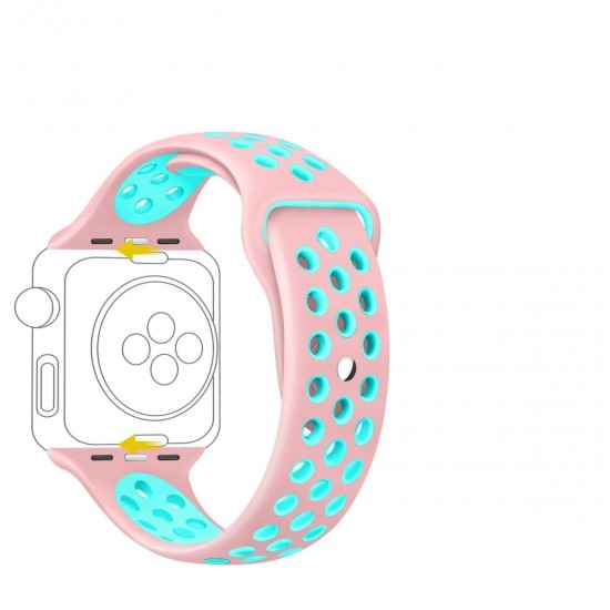 APPLE Band 42mm Nike pink withe green