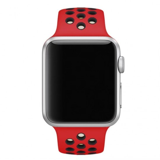 APPLE Band 42mm Nike red withe black