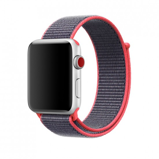 APPLE Band 42mm pink withe gray Nylon