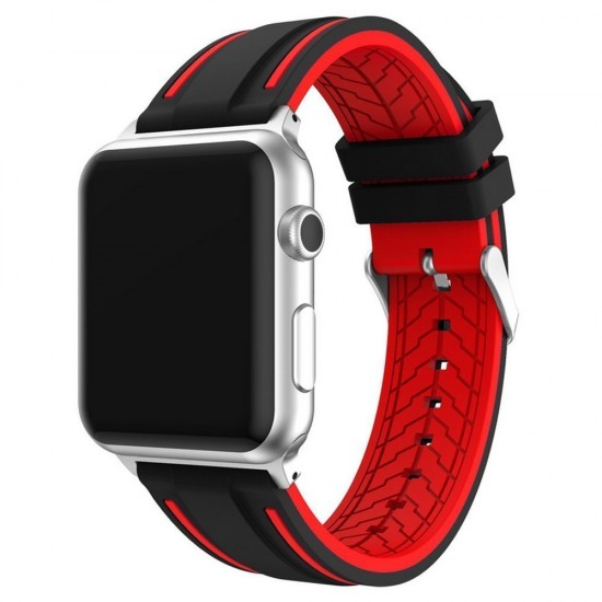 APPLE Band 42mm soft silicon red