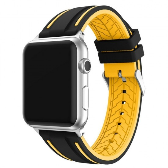 APPLE Band 42mm soft silicon yelow