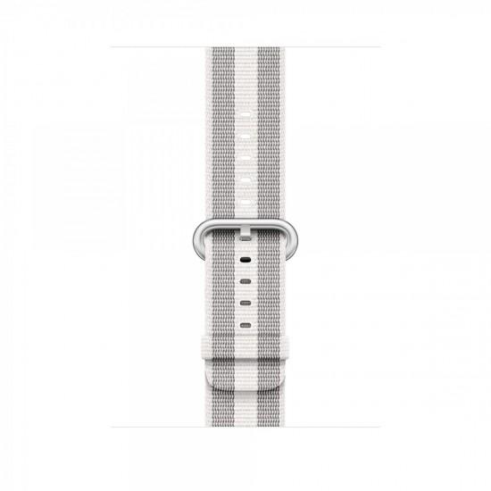 APPLE Band 42mm White Stripe Woven Nylon