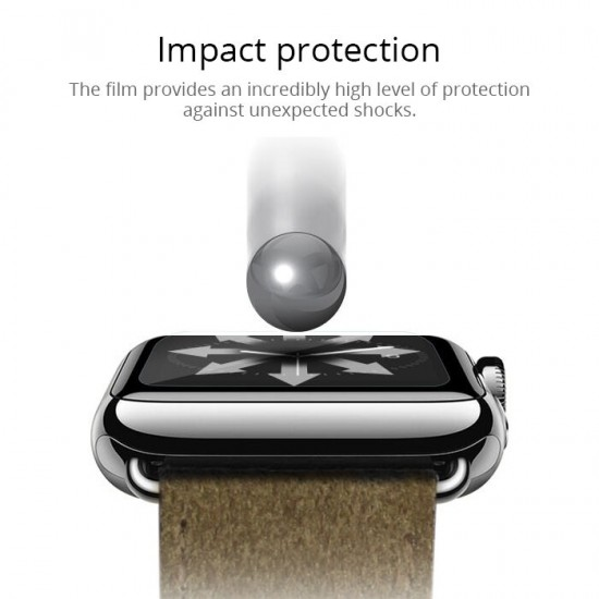 Screen Protector Glass for Apple Watch Serires 1 & 2 & 3 size 42mm by jcpal