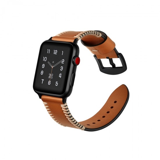 Apple Watch strap band  Style Leather Band brown 38mm or 40mm by jinya