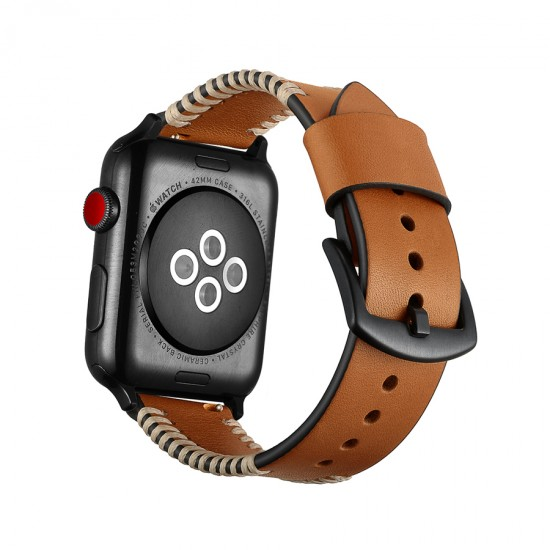 Apple Watch strap band  Style Leather Band brown 42mm by jinya
