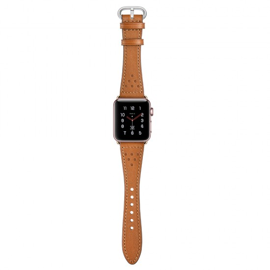 Apple Watch Luna strap band  Style Leather  brown 42 & 44 mm by jinya