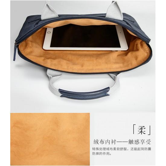 bag for macbook Waterproof canvas below 14inch Orange - jisoncase