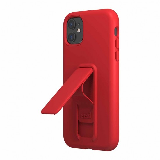 Case for iPhone 11 Eezl stand withe grip red by Wild Flag
